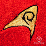 Star Trek Hand Towel - TOS Security Officer - Embroidered Geeky Bathroom Towel or Kitchen Decor