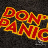 Don't Panic Bath Towel - The Hitchhiker's Guide to the Galaxy - Embroidered Towel Decor