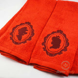 Super Mario Hand Towel Set - His and Her- Mario and Peach - Embroidered Towel