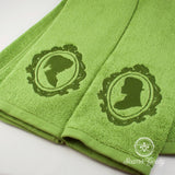 Legend of Zelda Hand Towel Set - His and Her - Link and Zelda - Embroidered Towel