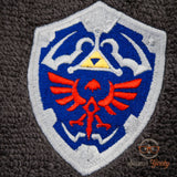 Legend of Zelda Hand Towel - Hylian Shield - Embroidered Bathroom Towel