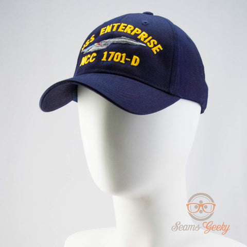 Star Trek Hat - The Next Generation TNG - USS Enterprise 1701-D - Naval Baseball Cap