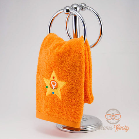 Sailor Moon Hand Towel - Sailor Venus - Embroidered Anime Bathroom Towel or Kitchen Decor