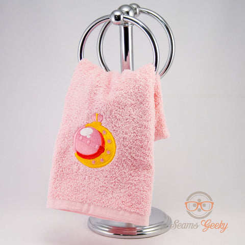 Sailor Moon Hand Towel - Wand -  Embroidered Geeky Bathroom Towel or Kitchen Decor