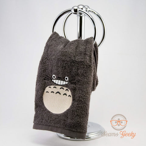 My Neighbor Totoro Hand Towel - Geeky Embroidered Bathroom Towel or Kitchen Decor