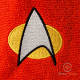 Star Trek Hand Towel -  TNG The Next Generation Command Officer - Embroidered Towel