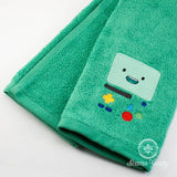 Adventure Time Hand Towel - BMO - Embroidered Geeky Bathroom Towel or Kitchen Decor