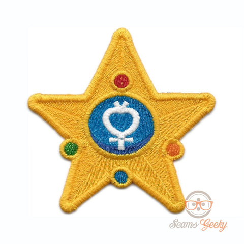Sailor Moon Patch - Sailor Mercury Wand - Embroidered Anime Iron on Patch