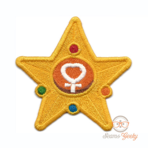 Sailor Moon Patch - Sailor Venus Wand - Geeky Embroidered Anime Iron on Patch