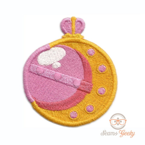 Sailor Moon Patch - Usagi Wand or Pen - Embroidered Anime Iron on Patch