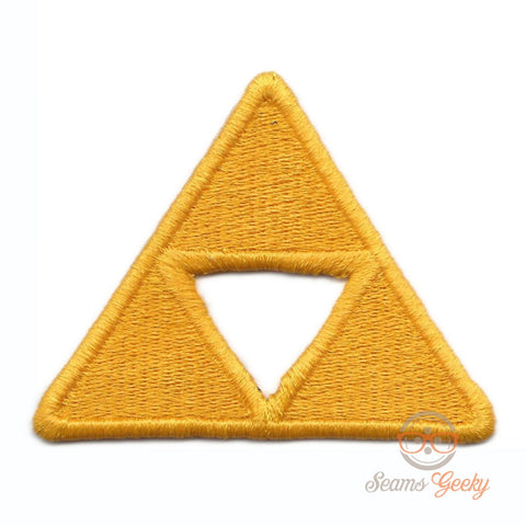 Legend of Zelda Patch - Triforce - Geeky Embroidered Video Game Iron on Patch