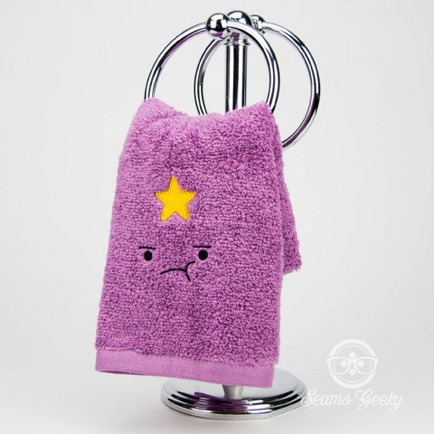 Adventure Time Hand Towel - Lumpy Space Princess (LSP) -  Embroidered Bathroom Decor