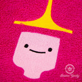 Adventure Time Hand Towel - Princess Bubblegum - Embroidered Geeky Bathroom Towel or Kitchen Decor