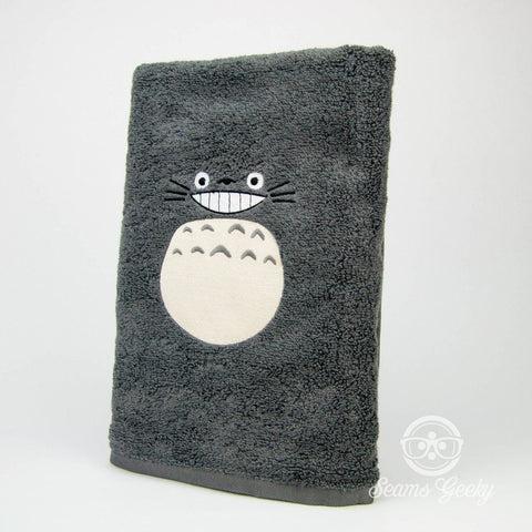 My Neighbor Totoro Bath Towel - Geeky Embroidered Bathroom Towel Decor