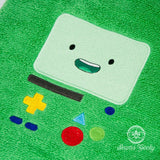 Adventure Time Bath Towel - BMO - Embroidered Bathroom Towel Decor