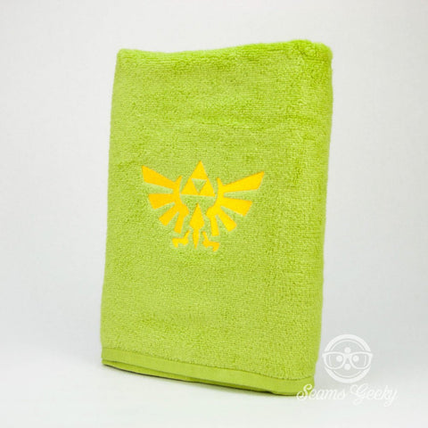 Legend of Zelda Bath Towel - Triforce - Geeky Embroidered Bathroom Towel or Video Game Decor