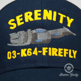 Firefly Hat - Serenity 03-K64-Firefly - Geeky Embroidered Movie Baseball Cap - Naval Hat Inspired
