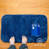 Doctor Who Bath Mat or Rug - TARDIS - Embroidered Sci-Fi Bathroom or Kitchen Decor