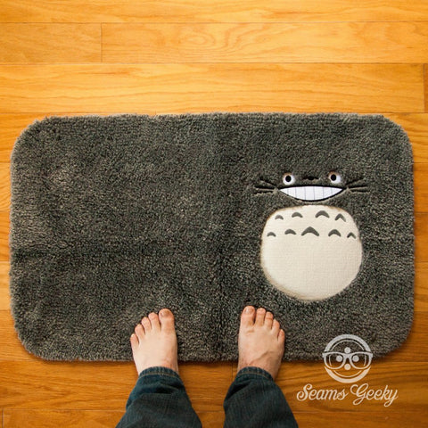 My Neighbor Totoro Bath Mat or Rug- Geeky Embroidered Bathroom or Kitchen Decor