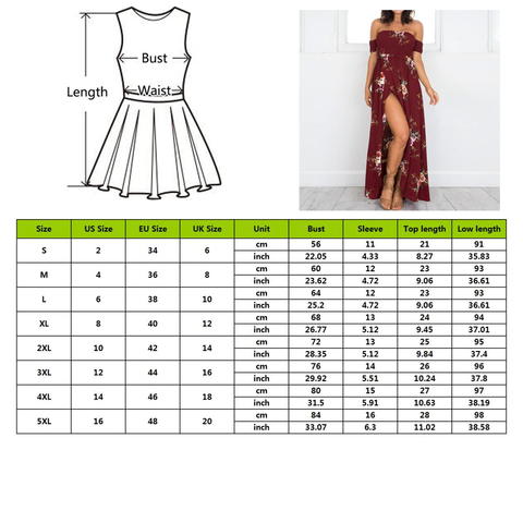 floral maxi dress clarity cove size chart