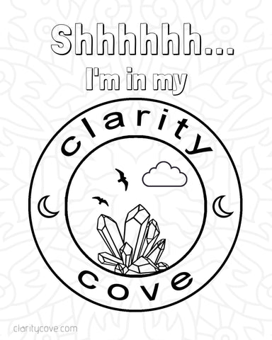 clarity cove free coloring page sign blanket fort printable