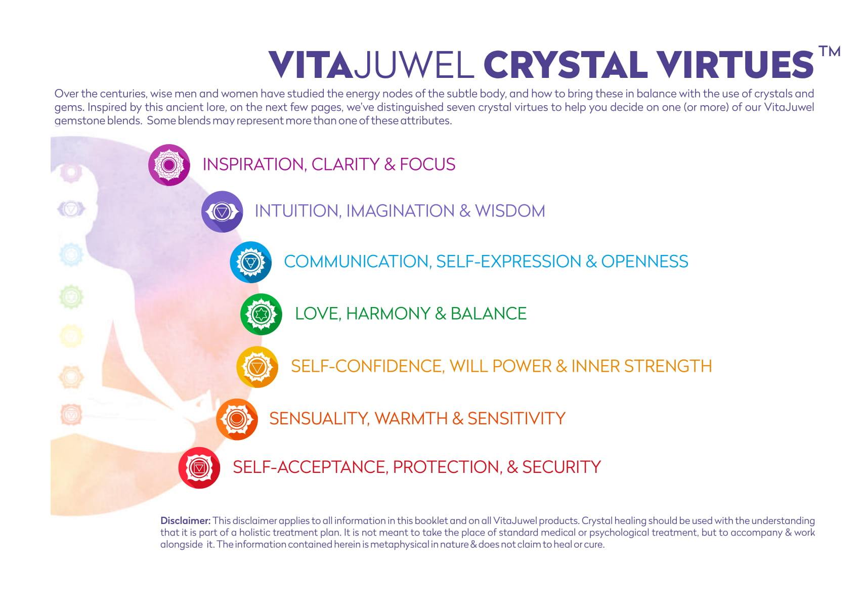 Vitajuwel ViA Gemwater Bottle INSPIRATION Blend with LOOP Handle Lapis Lazuli Rutilated Quartz - claritycove.com