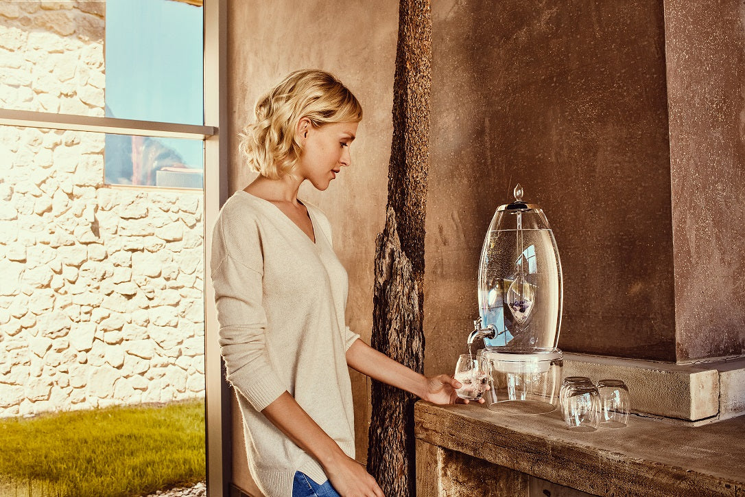 2 Gallon Gem Water Decanter - Vitajuwel Grande Water Dispenser  - Crystal Elixir Fountain - claritycove.com