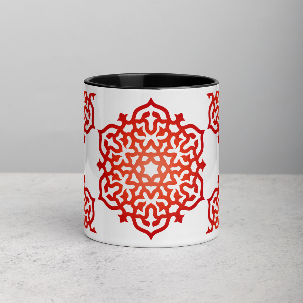 Red Orange Morning Mandala Meditation Coffee Mug - claritycove.com