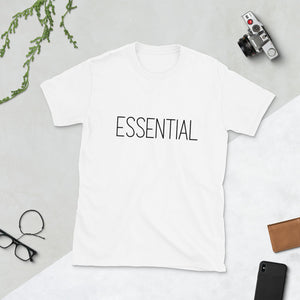 ESSENTIAL White Short-Sleeve Unisex T-Shirt S - 3X - claritycove.com