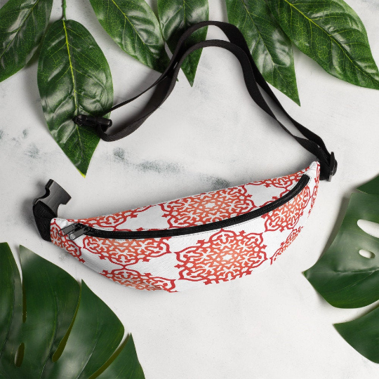 High Vibe Red Orange Mandala Fanny Pack Waist Bag - claritycove.com