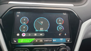 Chevy Bolt EV Vehicle Diagnostics Displayed on Car Screen Android Auto