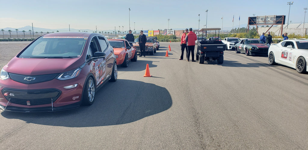 Racing Chevy Bolt EV in Optima Ultimate Street Car Invitational