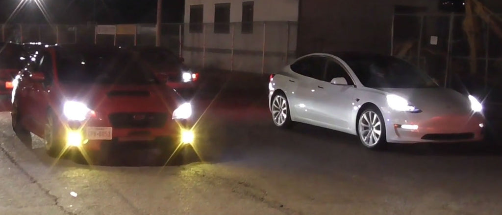 Tesla Model 3 AWD haunts muscle cars and tuned imports in multiple drag races