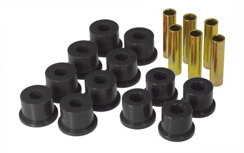 Prothane GM Rear Spring & Shackle Bushings (w/ 1.5in OD Frame Shackle Bush) - Black - 7-1054-BL