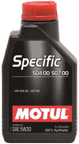 Motul 12x1L OEM Synthetic Engine Oil SPECIFIC 504 00 507 00 - 5W30 - 106374