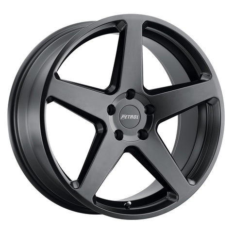 PETROL P2C CHEVY BOLT EV Wheels 17X8.0 5/105 SEMI GLOSSBLACK