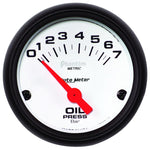 Autometer Phantom 2-1/16in 0-7 BAR Electric Oil Pressure Gauge - 5727-M