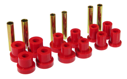Prothane GM Front Spring & Shackle Bushings - Red - 7-1015