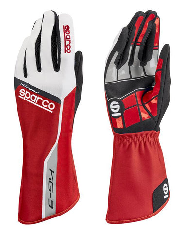 Sparco Glove Track KG3 04 Red/Wht - 00255304RS