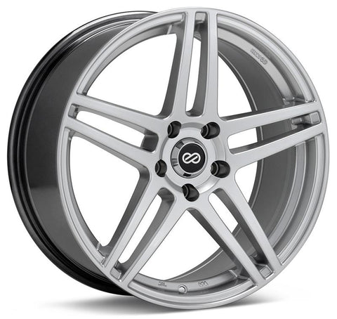 Enkei RSF5 17x7.5 38mm Offset 5x105 Bolt Pattern 72.6mm Bore Dia Hyper Silver Wheel - 479-775-3238HS