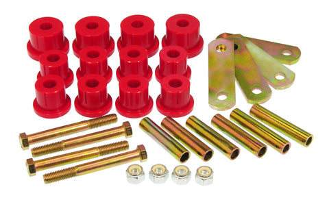 Prothane 67-69 Chevy Camaro HD Spring & Shackles Bushings - Red - 7-1052