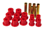Prothane 67-70 GM 4wd Front Spring & Shackle Bushings - Red - 7-1014