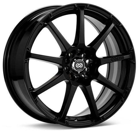 Enkei EDR9 18x7.5 5x105/110 38mm Offset 72.6 Bore Dia Matte Black Wheel - 441-875-5238BK