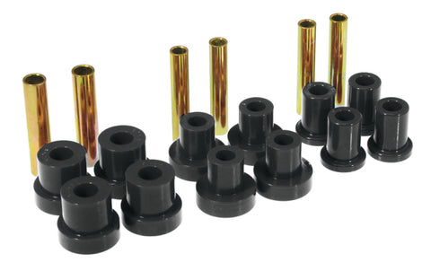 Prothane GM Front Spring & Shackle Bushings - Black - 7-1015-BL