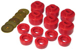 Prothane 07-14 Chevy Silverado Body Mount 12 Bushing Kit - Red - 7-147