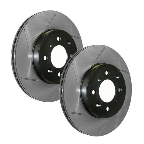 StopTech 2002-2004 Ford Focus SVT Cryo Slotted Rear Right Sport Brake Rotor - 126.61074CSR