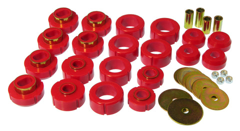 Prothane 81-91 Chevy K10 Blazer Body Mount Kit - Red - 7-110