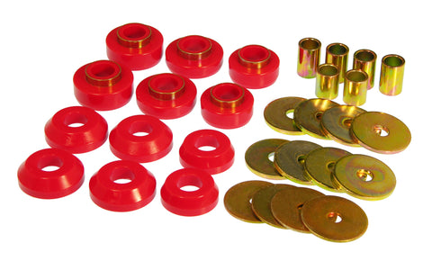 Prothane 76-81 GM Firebird / Trans Am Body Mount - Red - 7-127