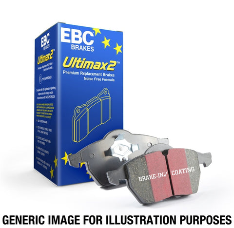 EBC 15+ Hyundai Sonata 1.6 Turbo (Elec Park Brake) Ultimax2 Rear Brake Pads - UD1813