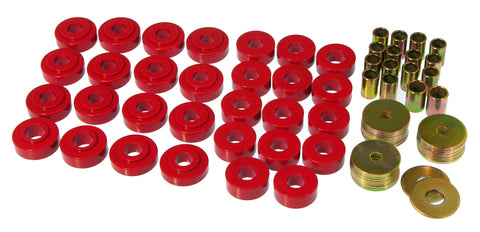 Prothane 65-67 GM Convertible Body Mount Kit - Red - 7-122